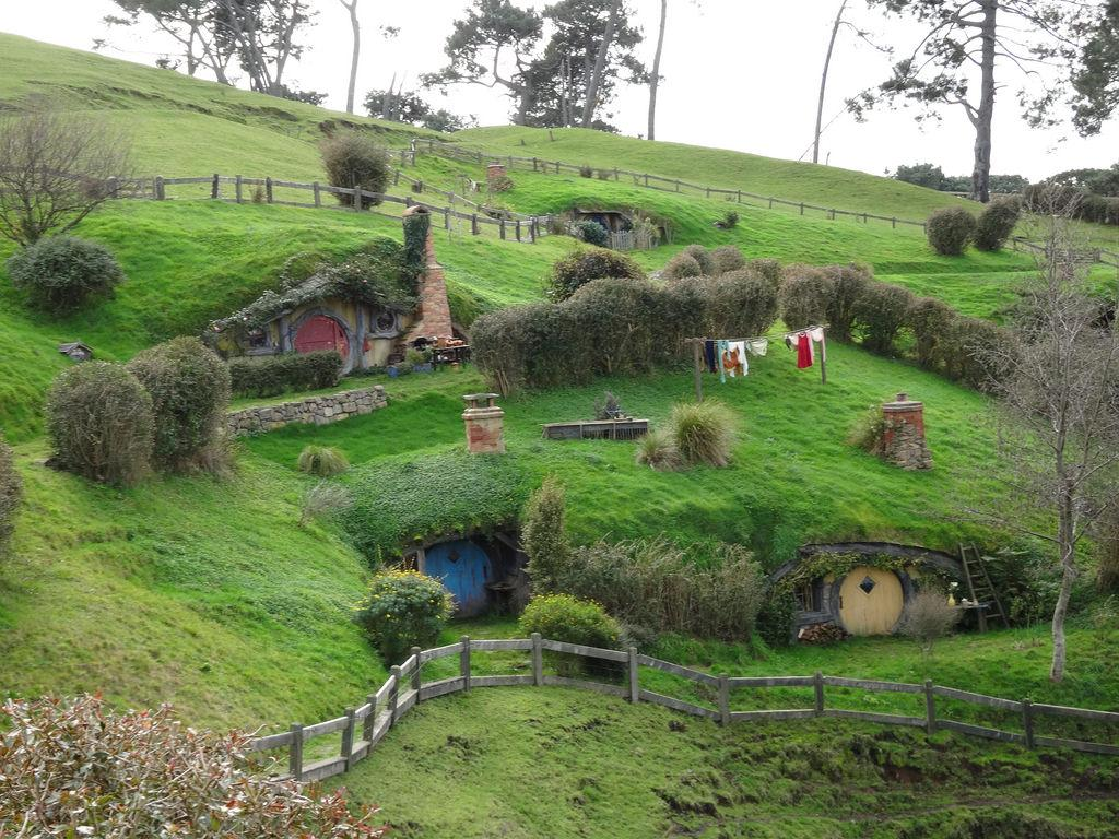 Hobbiton, the home of Bilbo Baggins