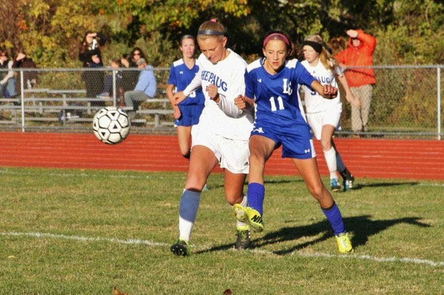Captain Maddie Gorra leads the Shepaug Soccer team in 2016