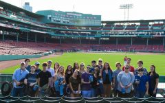 Shepaug Valley Students at Video Production Night at Fenway Park